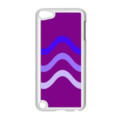 Purple Waves Apple Ipod Touch 5 Case (white) by Valentinaart