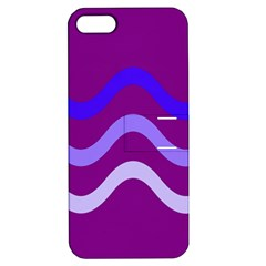 Purple Waves Apple Iphone 5 Hardshell Case With Stand by Valentinaart