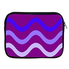 Purple Waves Apple Ipad 2/3/4 Zipper Cases by Valentinaart