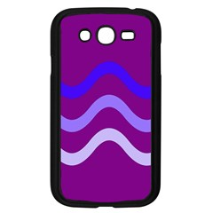 Purple Waves Samsung Galaxy Grand Duos I9082 Case (black) by Valentinaart