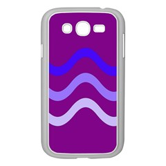 Purple Waves Samsung Galaxy Grand Duos I9082 Case (white) by Valentinaart