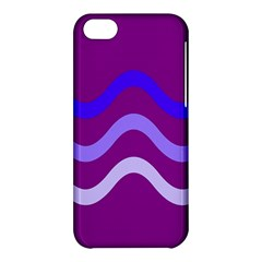 Purple Waves Apple Iphone 5c Hardshell Case by Valentinaart