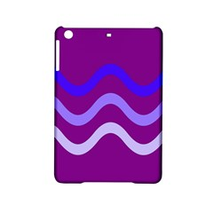 Purple Waves Ipad Mini 2 Hardshell Cases by Valentinaart