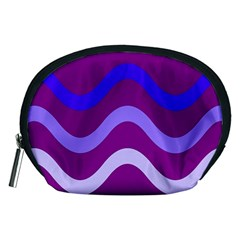 Purple Waves Accessory Pouches (medium)  by Valentinaart