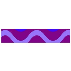Purple Waves Flano Scarf (small) by Valentinaart