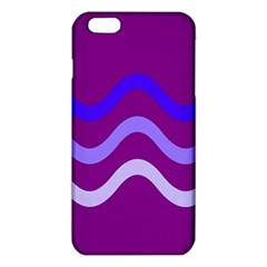 Purple Waves Iphone 6 Plus/6s Plus Tpu Case by Valentinaart