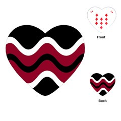 Decorative Waves Playing Cards (heart)  by Valentinaart