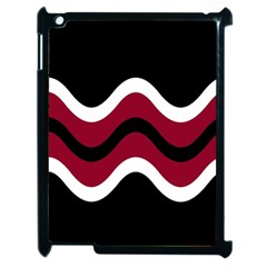 Decorative Waves Apple Ipad 2 Case (black) by Valentinaart