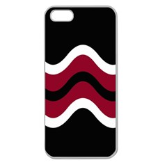 Decorative Waves Apple Seamless Iphone 5 Case (clear) by Valentinaart