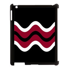 Decorative Waves Apple Ipad 3/4 Case (black) by Valentinaart