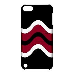 Decorative Waves Apple Ipod Touch 5 Hardshell Case With Stand by Valentinaart