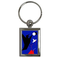 Night Birds  Key Chains (rectangle)  by Valentinaart