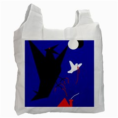 Night Birds  Recycle Bag (one Side) by Valentinaart