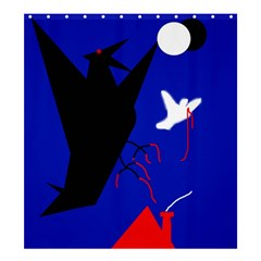 Night Birds  Shower Curtain 66  X 72  (large)  by Valentinaart