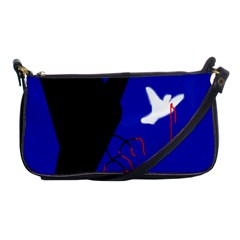 Night Birds  Shoulder Clutch Bags by Valentinaart