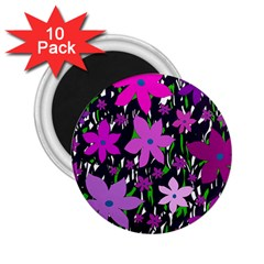 Purple Fowers 2 25  Magnets (10 Pack)  by Valentinaart