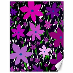 Purple Fowers Canvas 36  X 48   by Valentinaart