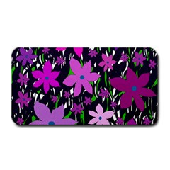 Purple Fowers Medium Bar Mats by Valentinaart