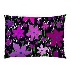 Purple Fowers Pillow Case by Valentinaart