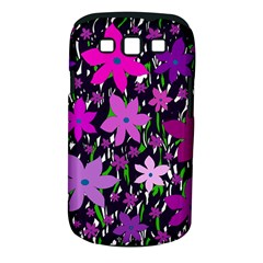 Purple Fowers Samsung Galaxy S Iii Classic Hardshell Case (pc+silicone) by Valentinaart