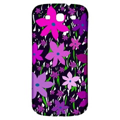 Purple Fowers Samsung Galaxy S3 S Iii Classic Hardshell Back Case by Valentinaart