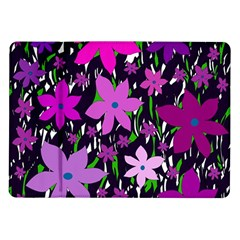 Purple Fowers Samsung Galaxy Tab 10 1  P7500 Flip Case by Valentinaart