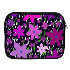 Purple Fowers Apple Ipad 2/3/4 Zipper Cases by Valentinaart
