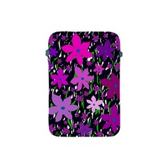 Purple Fowers Apple Ipad Mini Protective Soft Cases by Valentinaart