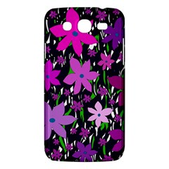 Purple Fowers Samsung Galaxy Mega 5 8 I9152 Hardshell Case  by Valentinaart