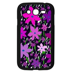 Purple Fowers Samsung Galaxy Grand Duos I9082 Case (black) by Valentinaart