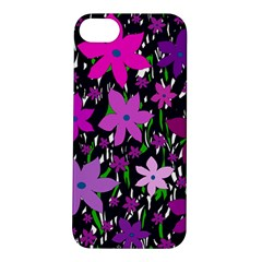 Purple Fowers Apple Iphone 5s/ Se Hardshell Case by Valentinaart