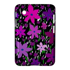 Purple Fowers Samsung Galaxy Tab 2 (7 ) P3100 Hardshell Case  by Valentinaart