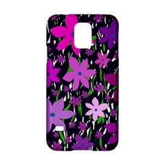 Purple Fowers Samsung Galaxy S5 Hardshell Case  by Valentinaart