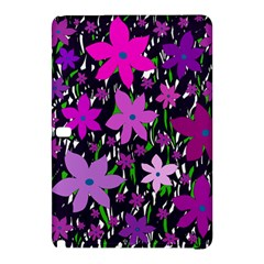 Purple Fowers Samsung Galaxy Tab Pro 10 1 Hardshell Case by Valentinaart
