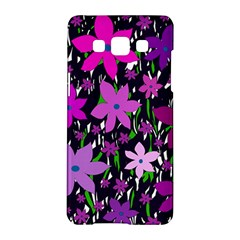 Purple Fowers Samsung Galaxy A5 Hardshell Case  by Valentinaart