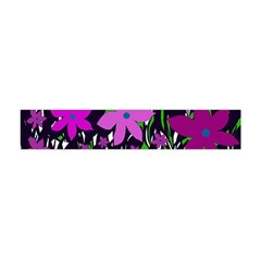 Purple Fowers Flano Scarf (mini) by Valentinaart