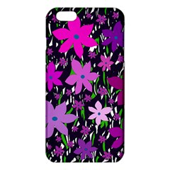 Purple Fowers Iphone 6 Plus/6s Plus Tpu Case by Valentinaart