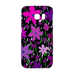 Purple Fowers Galaxy S6 Edge by Valentinaart