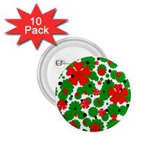 Red And Green Christmas Design  1 75  Buttons (10 Pack) by Valentinaart