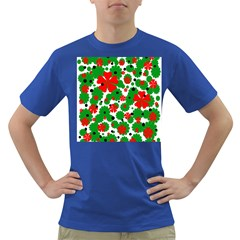 Red And Green Christmas Design  Dark T Shirt by Valentinaart