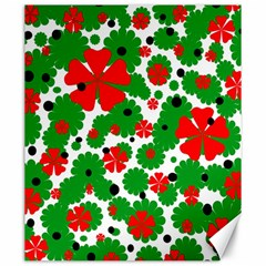 Red And Green Christmas Design  Canvas 20  X 24   by Valentinaart
