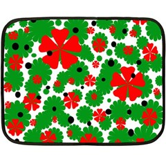 Red And Green Christmas Design  Double Sided Fleece Blanket (mini)  by Valentinaart