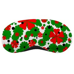 Red And Green Christmas Design  Sleeping Masks by Valentinaart