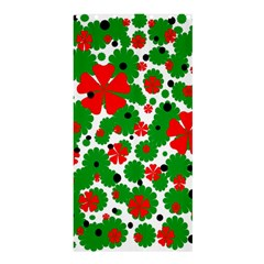 Red And Green Christmas Design  Shower Curtain 36  X 72  (stall)  by Valentinaart