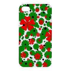 Red And Green Christmas Design  Apple Iphone 4/4s Premium Hardshell Case by Valentinaart