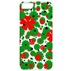 Red And Green Christmas Design  Apple Iphone 5 Classic Hardshell Case by Valentinaart