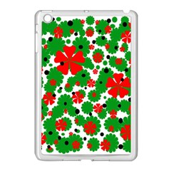 Red And Green Christmas Design  Apple Ipad Mini Case (white) by Valentinaart