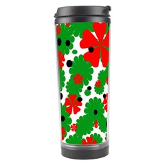 Red And Green Christmas Design  Travel Tumbler by Valentinaart