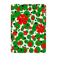 Red And Green Christmas Design  Samsung Galaxy Note 10 1 (p600) Hardshell Case by Valentinaart