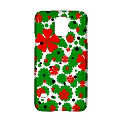 Red And Green Christmas Design  Samsung Galaxy S5 Hardshell Case  by Valentinaart